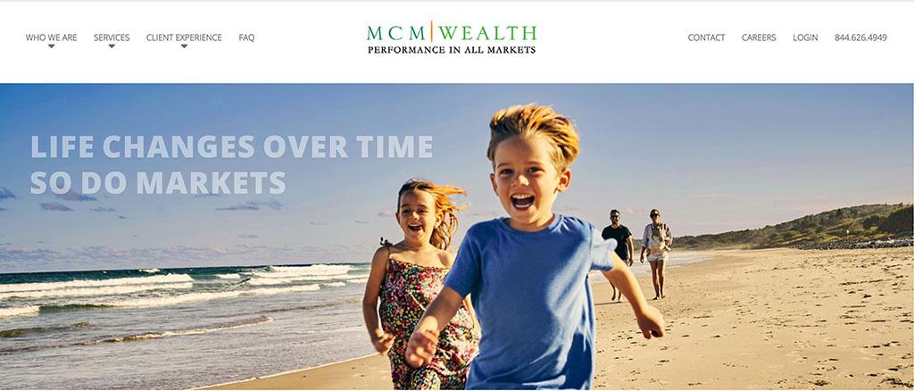 screen cap of MCM Wealth